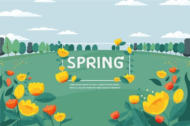 Цветочный цветочный фон. концепция весеннего сезона Premium векторы