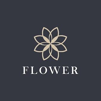 花。ロゴデザインの花のグラフィック画像。