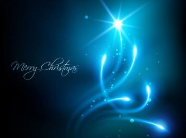 크리스마스 트리 배경으로 블루 조명