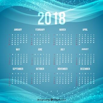 Calendario 2018 blu