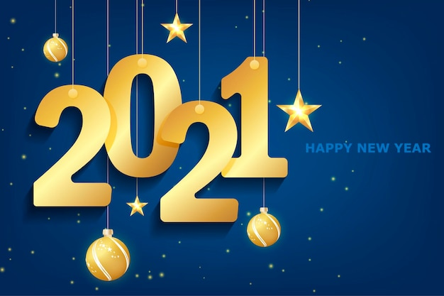 Blue 2021 new year on white background. merry christmas greeting card. background. calendar 2021. festive event banner. logo design. white background. blue christmas night background.