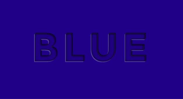Blue 3d editable vector text effect free vector