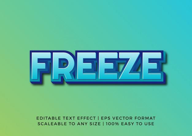 파란색 3d 얼음 텍스트 효과