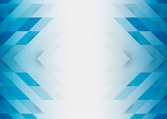 ブルーの3 Dモダンな背景デザイン
