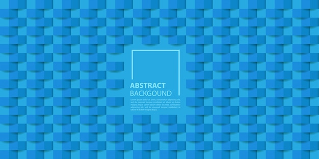 Blue 3d paper style background