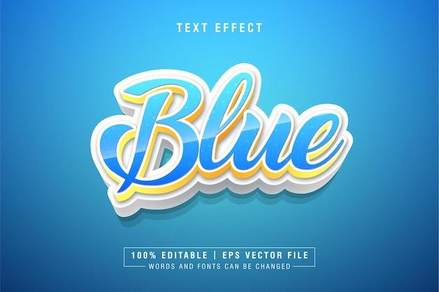 블루 3d 텍스트 스타일 효과