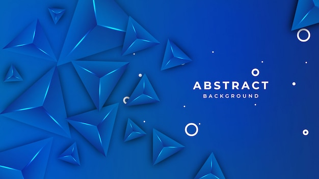 Blue 3d triangles background with vivid colours background