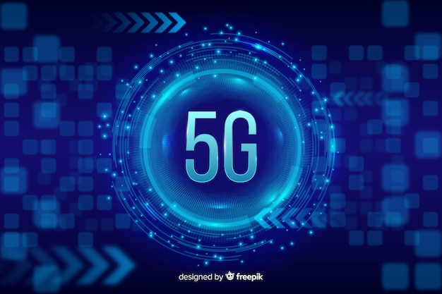 Blue 5g concept background
