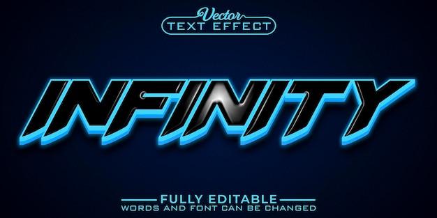 파란색 ä°nfinity 편집 가능한 텍스트 효과 템플릿