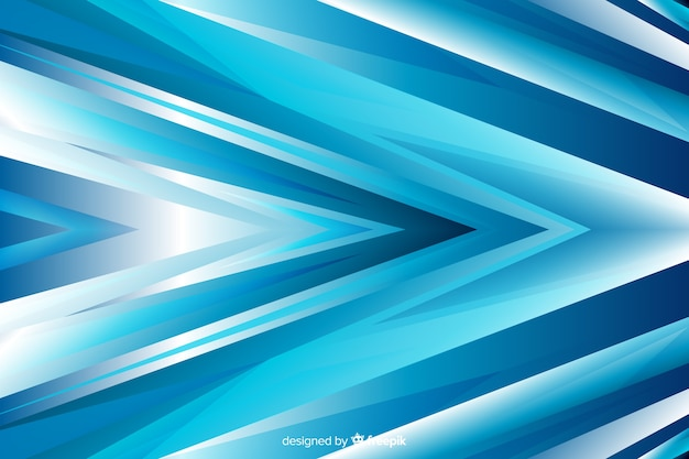 Blue abstract arrow shapes background