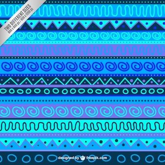 Синий абстрактный фон в этническом стиле