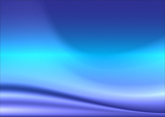 Blue abstract background made of light splashes and curved lines