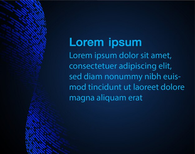 Blue abstract background for text template