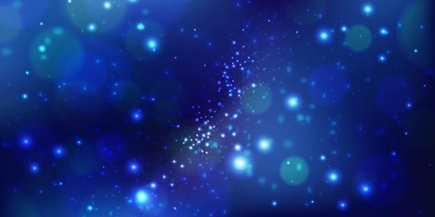 青の抽象的な背景。星のある宇宙。