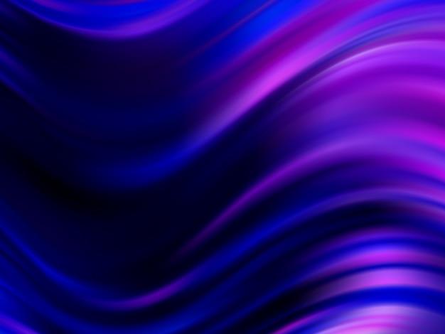 青い抽象的な背景波と曲線