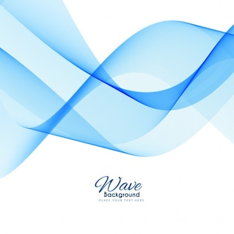 Elegante moderna onda sfondo blu