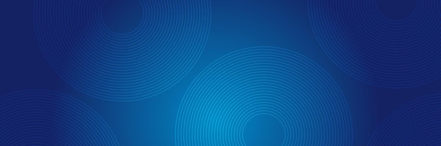 Blue abstract background with circle lines.