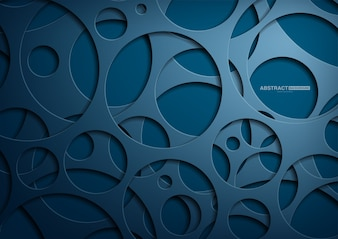 Blue abstract background with dark concept.