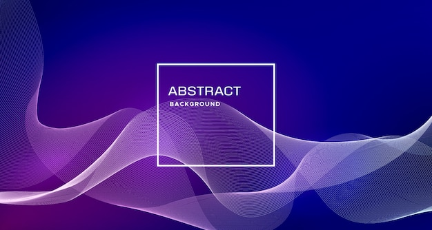 Blue abstract background with dynamic shapes