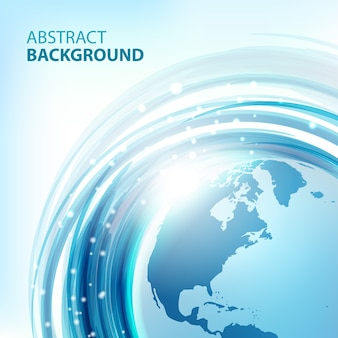 Blue abstract  background with earth. round eco design. abstract background for business presentations. vector