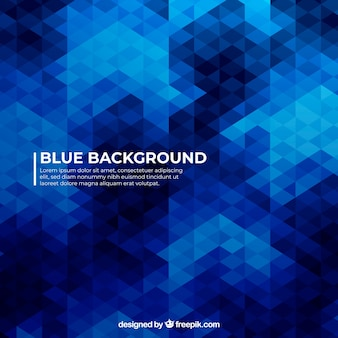 Blue abstract background with flat design