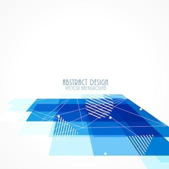 Синий перспектива квадратных мозаика фон