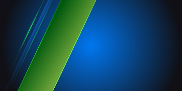 Blue abstract background with green light line on blank space