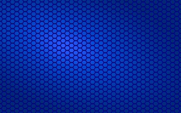 六角形のテクスチャと青い抽象的な背景