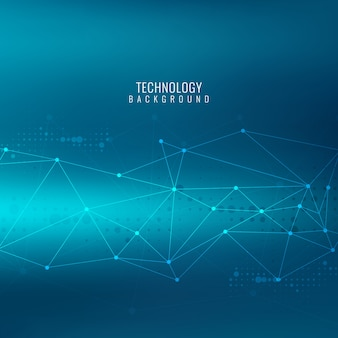 선 및 점, 기술 블루 추상적 인 배경