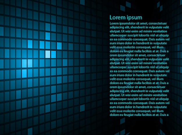 Blue abstract background with text template