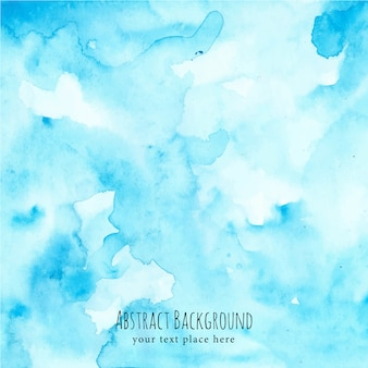 Blue abstract background with watercolor