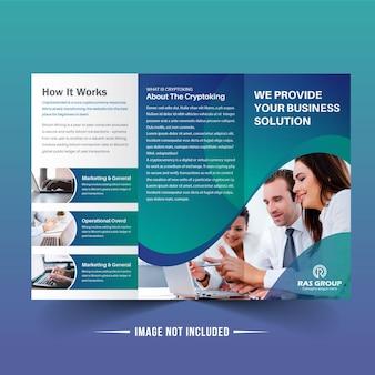Blue abstract bi fold brochure design