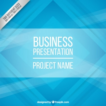 Blue abstract business background Free Vector