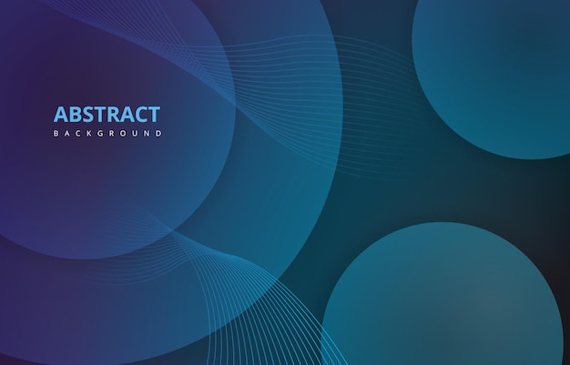 Синий абстрактный круг волны линии градиент текстуры фона обои графический дизайн