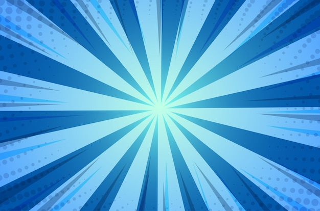 Blue abstract comic cartoon sunlight background