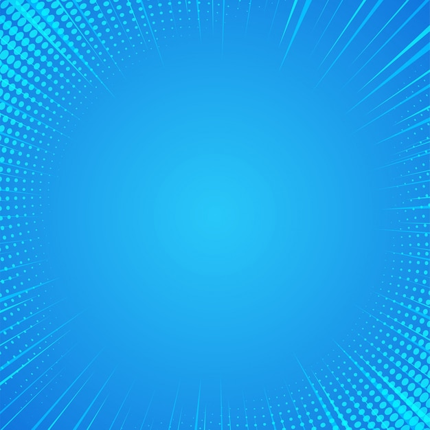 Blue abstract comic cartoon sunlight background.
