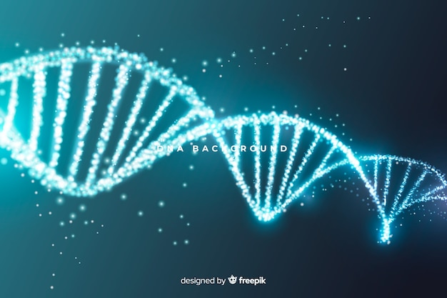 Blue abstract dna structure background