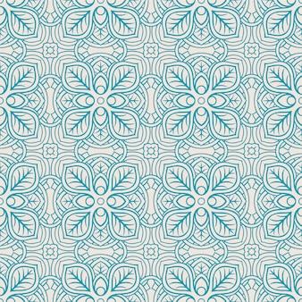 블루 추상 꽃 패턴