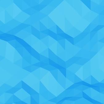 青い抽象的な幾何学的なしわくちゃの三角形の低ポリスタイルの図