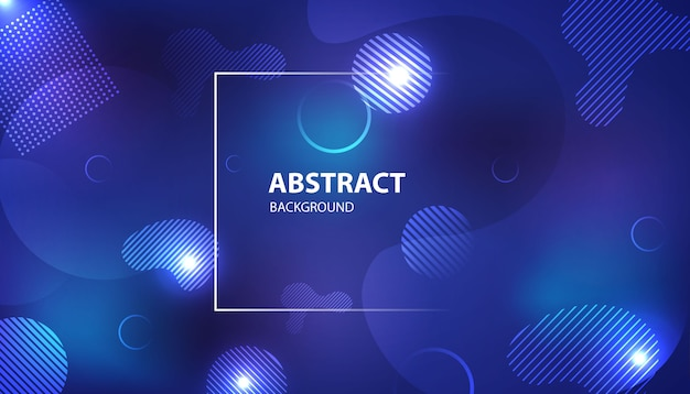 Blue abstract gradient geometric shape background