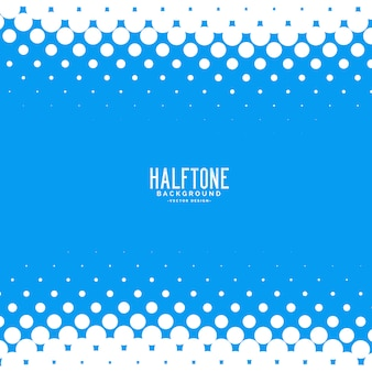 Blue abstract halftone vector background
