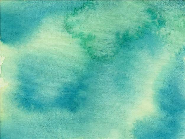 青い抽象的な手描きの水彩画