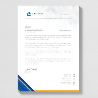 Синий аннотация письмо руководитель вектора дизайна.