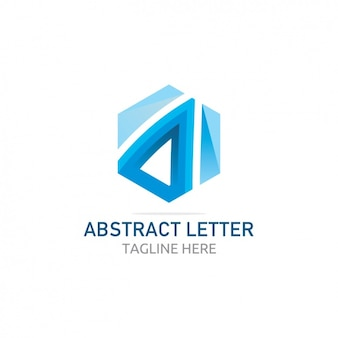 Blue abstract letter logo