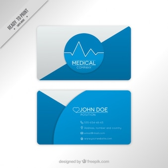 Blue abstract medical corporative card