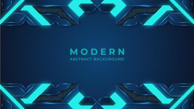 青の抽象的なモダンな背景と照明デジタル背景