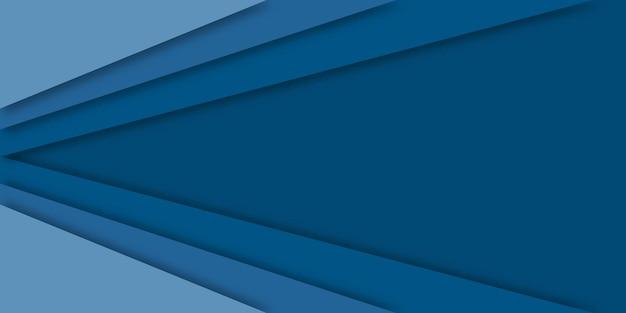 青い抽象的なペーパーカットスタイルの背景。