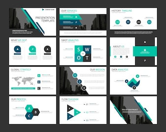 blue abstract presentation templates infographic