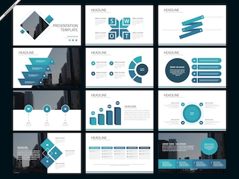 Powerpoint vectors photos and psd files free download blue abstract presentation templates infographic toneelgroepblik Image collections