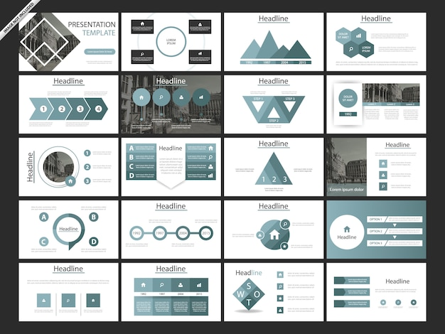 Blue abstract presentation templates